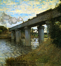 Monet Claude The rail bridge Sun