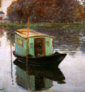 Monet Claude The studio boat Sun