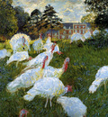 Monet Claude Turkeys Sun