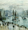 Monet Fishing Boats Leaving the Harbor, Le Havre, 1874, 60x1
