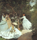 Monet The Women in the Garden, 1866 67, oil on canvas, Musee