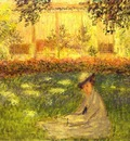 Monet Woman Sitting in a Garden