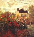 monet monets garden at argenteuil dahlias
