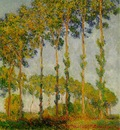 monet poplars autumn