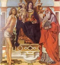 B Montagna La Vergine S Sebastiano e S Girolamo