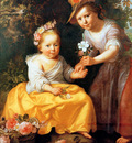 Moreelse Paul Portrait of two children Sun