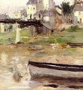 Morisot Berthe Boats on the Seine