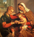 Moroni Giovanni Battista The Mystic Marriage Of St Catherine