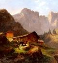 Muheim Jost Anton Hutte In Den Alpen