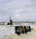 Munthe Gerhard Waiting on the fishers fleet Sun