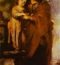 Bartolome Esteban Murillo Joseph with Infant Christ
