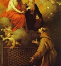 Bartolome Esteban Murillo The Vision to St  Francis at Porziuncola