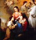 Murillo, Bartolome Esteban The Virgin and Child with St Rosalina end