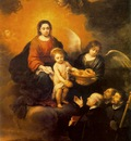 murillo the infant jesus distributing bread to pilgrims,