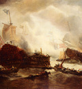 Musin Francois Etienne Midst A Naval Battle