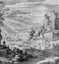 Nieulandt van Willem Landscape with ruin Sun