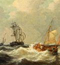 Opdenhoff George Willem Sailing Vessels In Choppy Waters