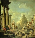 Pannini, Giovanni Sibyl and the Ruins of Rome end