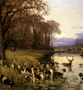 Penne Charles Olivier De A Stag At Bay