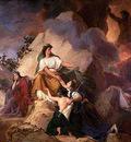 Picot Francois Eduoard Cybele protege contre le Vesuve les villes de Stabiae Herculanum Pompei et Resina
