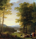 Pieneman Jan Willem Arcadian landscape Sun