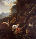 Pijnacker Adam Young shepherd with cattle Sun
