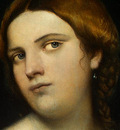 piombo,del portrait of a young woman as a wise virgin, c