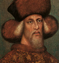 Pisanello Portrait of the Emperor Sigismund, 1432 33, parchm
