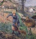 landscape with a donkey, pissarro 1600x1200 id
