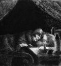 Pissarro Camille Grandmother Sun