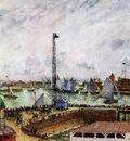 Pissarro Camille The pilots jetty, Le Havre Sun