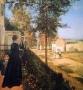 Pissarro Camille The road of Versailles Sun