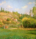Pissarro Camille Wow shepherd on the road Sun