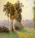 pissarro sunset at st  charles eragny