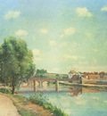 Pissarro The Railway Bridge at Pontoise, 1873, private colle