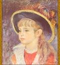 po par 152 fillette au chapeau bleu