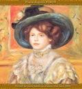 po par 261 portrait de jeune femme au chapeau bleu