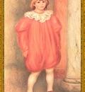 po par 293 le clown claude en robe rouge
