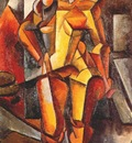 popova female model, standing figure c1913