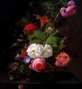 Rachel Ruysch Still life with flowers Sun
