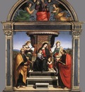 Raffaello Madonna and Child Enthroned with Saints