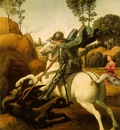 raffaello st  george fighting the dragon, 1504 06, 28 5x21