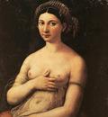 Raphael Portrait of a Nude Woman Fornarina c1518