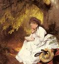 Raupp Karl An Elegant Lady Reading Under A Tree
