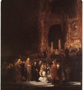 REMBRANDT CHRIST AND THE ADULTERESS 1644 NG LONDON