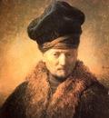 REMBRANDT PORTRATT AV GAMMAL MAN MED PALSMOSSA 1630 INNSBRU