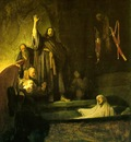REMBRANDT THE RAISING OF LAZARUS C 1630 LA COUNTY MUSEUM OF