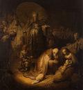 Rembrandt Adoration of the magi, 1632, 45x39 cm, Eremitaget