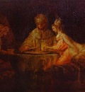 Rembrandt Assuerus, Haman and Esther