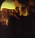 Rembrandt Christ and the Woman of Samaria